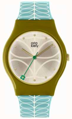 Orla Kiely Orla Kiely Ladies Bobby Watch Olive Green And Sky Blue OK2226