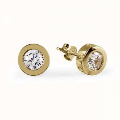 Radley Jewellery CZ Set Gold Stud Plated Silver Stud Earrings RYJ1032