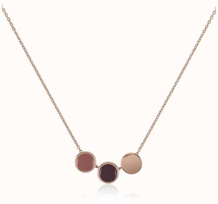 Radley Jewellery Rose Gold Enamel Drop Necklace RYJ2042