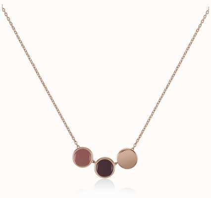 Radley Jewellery Rose Gold Plated Silver Enamel Drop Necklace RYJ2042