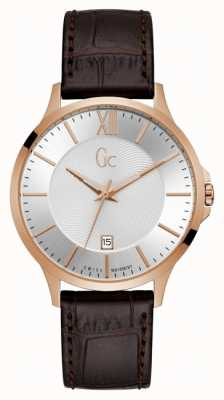 Gc Executive Gents Silver Watch Y38003G1