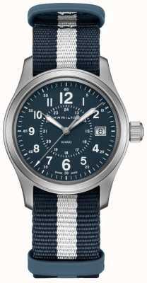 Hamilton Khaki Field Quartz Blue NATO Strap H68201043