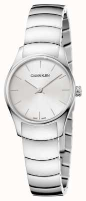 Calvin Klein Classic watch in all silver minimalist dial K4D23146