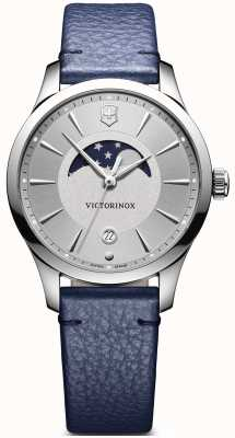 Victorinox Swiss Army Alliance Small Moonphase Blue Leather Strap 241832