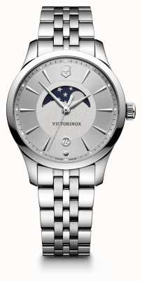 Victorinox Swiss Army Alliance Sml Moonphase Silver Dual Finish Professional Diver 241833