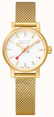 Mondaine Ladies Evo2 Gold PVD Mesh Watch MSE.26111.SM