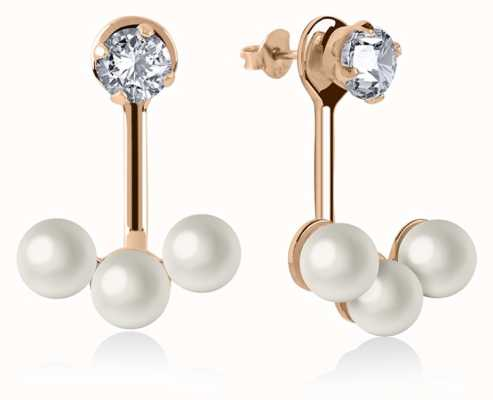 Radley Jewellery Rose Gold Triple Pearl Earrings RYJ1044