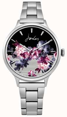 Joules Womens Flora Stainless Steel Bracelet Floral Dial JSL002SM