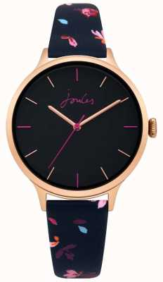 Joules Womens Joules Casey Navy Floral Leather Strap Navy Dial JSL003URG