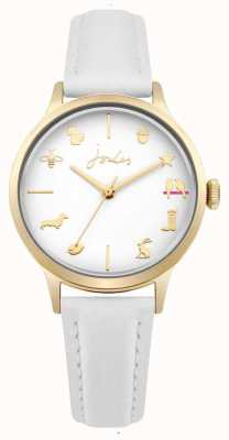 Joules Womens White Leather Strap White Dial JSL011WG