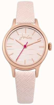 Joules Womens Lisbeth Pink Leather Strap Rose Gold Dial JSL012PRG
