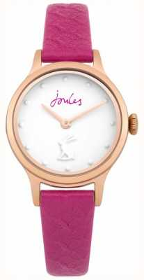Joules Womens Jackie Purple Leather Strap White Dial JSL007PRG