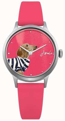 Joules Womens Pink Silicone Strap Pink Dial JSL010P