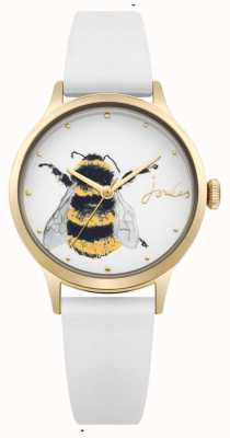 Joules Womens White Silicone Strap Off White Dial With Bee JSL010WRG