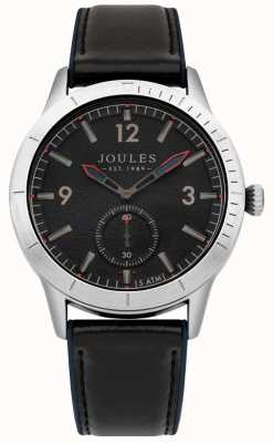 Joules Mens Navy Leather Strap Dark Blue Dial JSG006B