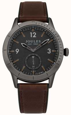 Joules Mens Ryley Brown Leather Strap Black Dial JSG006BRB