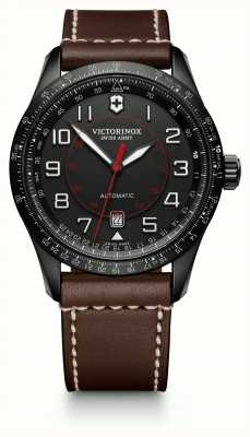 Victorinox Swiss Army Mens Airboss Slide Rule Brown Leather Strap Black Dial 241821