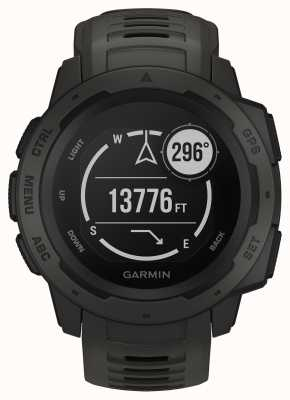 Garmin Instinct Graphite Outdoor GPS Silicone Strap Grey 010-02064-00
