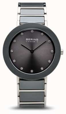 Bering Grey Ceramic Stainless Steel Bracelet Grey Dial 11435-789