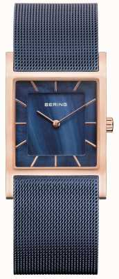 Bering Blue Mesh Bracelet Blue Mother Of Pearl Dial 10426-367-S