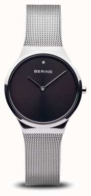 Bering Classic | Polished Silver Black Face 12131-002