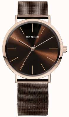 Bering Classic Collection Watch With Mesh Band And Scratch Resista 13436-265