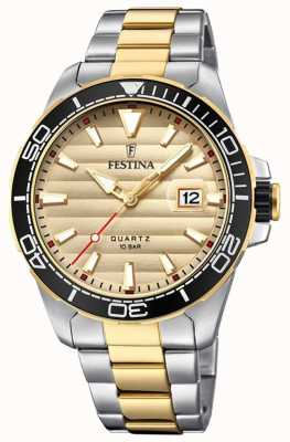 Festina Mens Two-tone Stainless Steel Gold Dial F20362/1