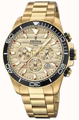 Festina Men's Gold Stainless Steel Chronograph Gold Dial F20364/1