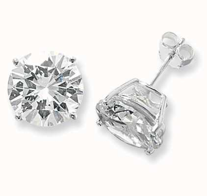 Treasure House Silver Cubic Zirconia Stud Earrings 13 mm G5143CZ