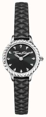 Thomas Sabo Women's Stainless Steel Case Black Leather Strap Black Dial WA0328-203-203-19