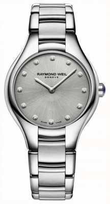Raymond Weil Womens Noemia Diamond Set Stainless Steel Bracelet 5132-ST-65081