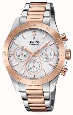 Festina Womens Boyfriend Chronograph Two Tone F20398/1