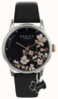 Radley Radley Ladies | Flower Print | Black Dial | Leather Strap RY2687S