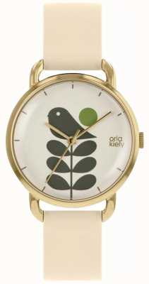 Orla Kiely Bird Print | Rose Gold Case | Beige Strap OK2238