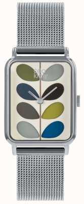 Orla Kiely Ladies Avery Stem Watch | Stainless Steel Mesh Strap | OK4083
