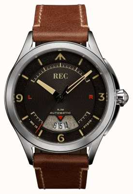 REC Spitfire Automatic Brown Leather Strap RJM-02