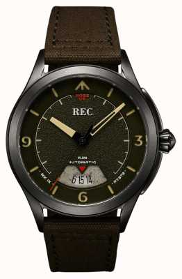 REC | PT879 MK IX Spitfire | Canvas Strap | Automatic Watch | RJM-03