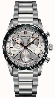 Certina Mens DS-2   Precidrive Chronograph   Silver Dial   C0244471103101