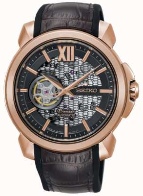 Seiko Mens Premier Limited Edition | Automatic Skeleton | RoseGold SSA374J1