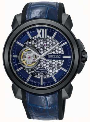 Seiko Mens Premier Limited Edition | Automatic Skeleton | Blue SSA375J1