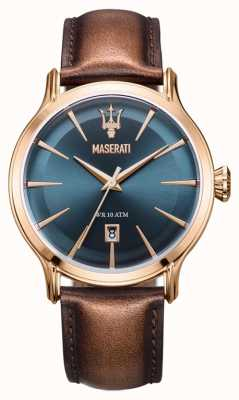 Maserati Men's Epoca 42mm | Blue Dial | Brown Leather Strap R8851118001