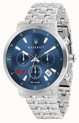 Maserati Mens GT 44mm | Blue Dial | Silver Stainless Steel Bracelet R8873134002