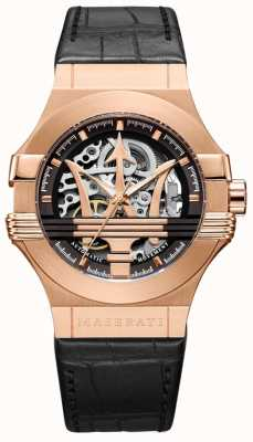 Maserati Mens Potenza Automatic | Gold Plated Case | Black Dial R8821108002