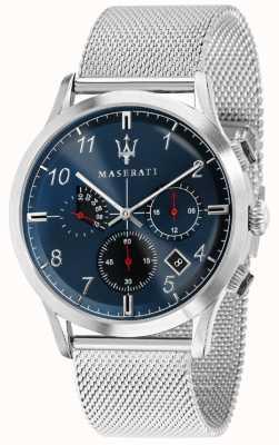 Maserati Mens Ricordo 42mm | Blue Dial | StainlessSteel Mesh Bracelet R8873625003