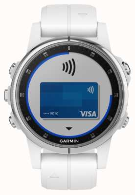 Garmin Fenix 5S Plus Sapphire White with White Rubber Strap 010-01987-01
