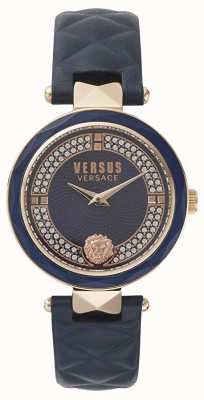 Versus Versace Womens Covent Garden | Blue Swarovski Dial | Blue Leather VSPCD2817