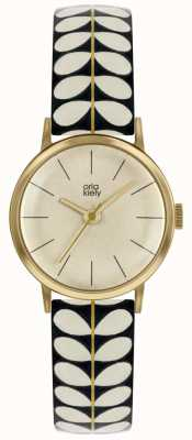Orla Kiely | Ladies Patricia Watch | Black And Cream Stem Print Strap | OK2266