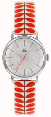 Orla Kiely | Ladies Patricia Watch | Cream And Red Stem Print Strap OK2267