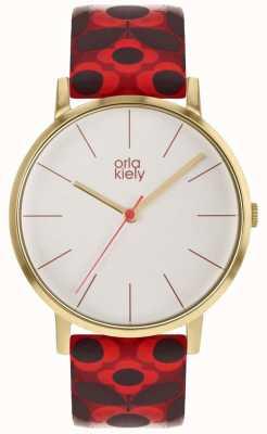 Orla Kiely | Ladies Patricia Watch | Red Flower Print Strap OK2268