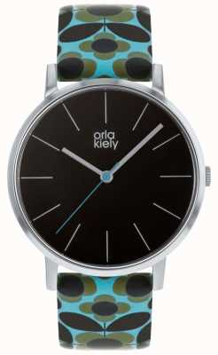 Orla Kiely | Ladies Patricia Watch | Blue Flower Print Strap OK2269